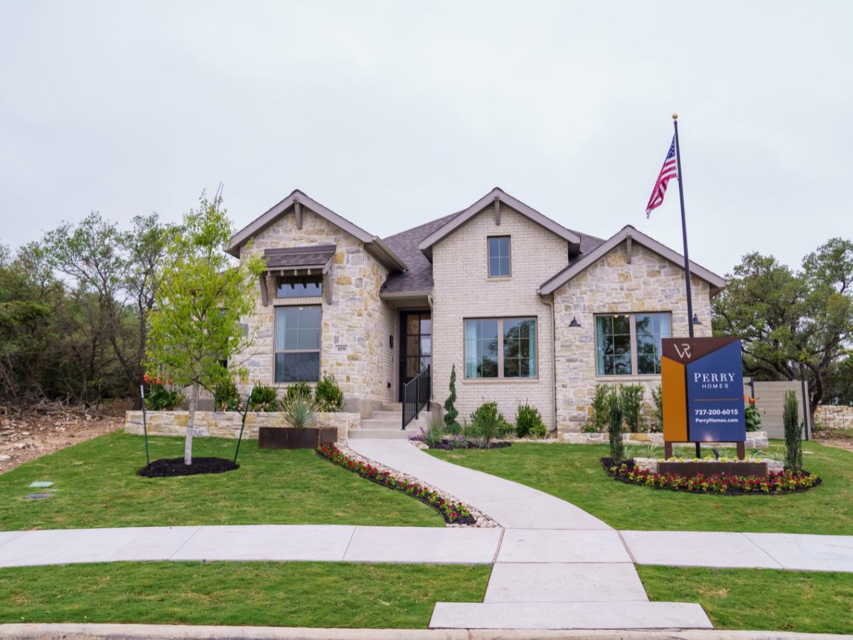 model home landscaping in Austin, TX