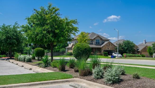 commercial parking lot landscaping