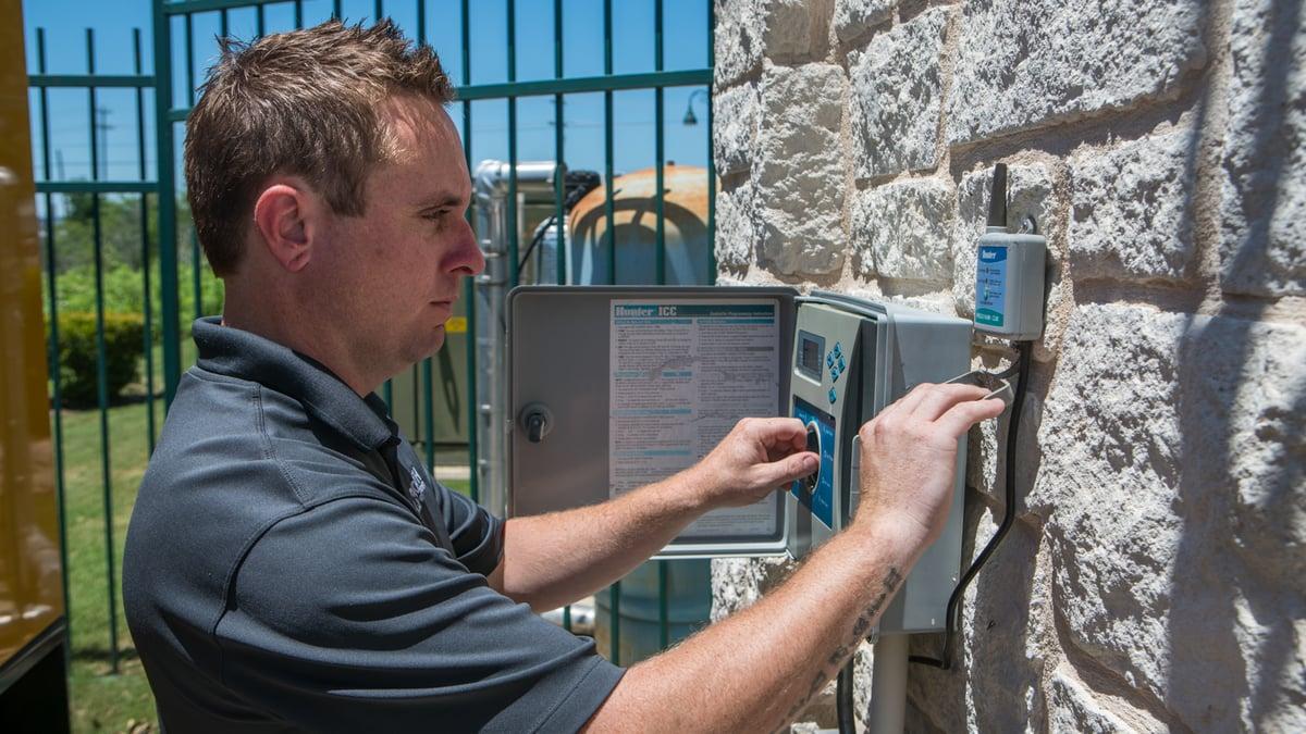 commercial landscape maintenance frequency irrigation maintenance