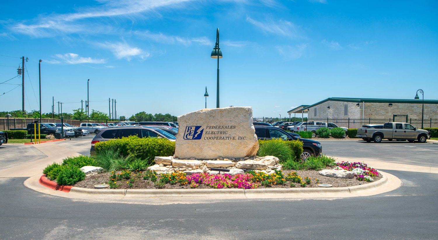 Commercial sign landscaping