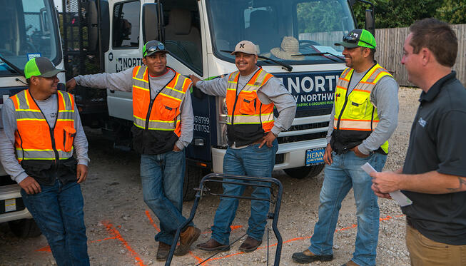 North by Northwest commercial landscaping crew in Austin, TX