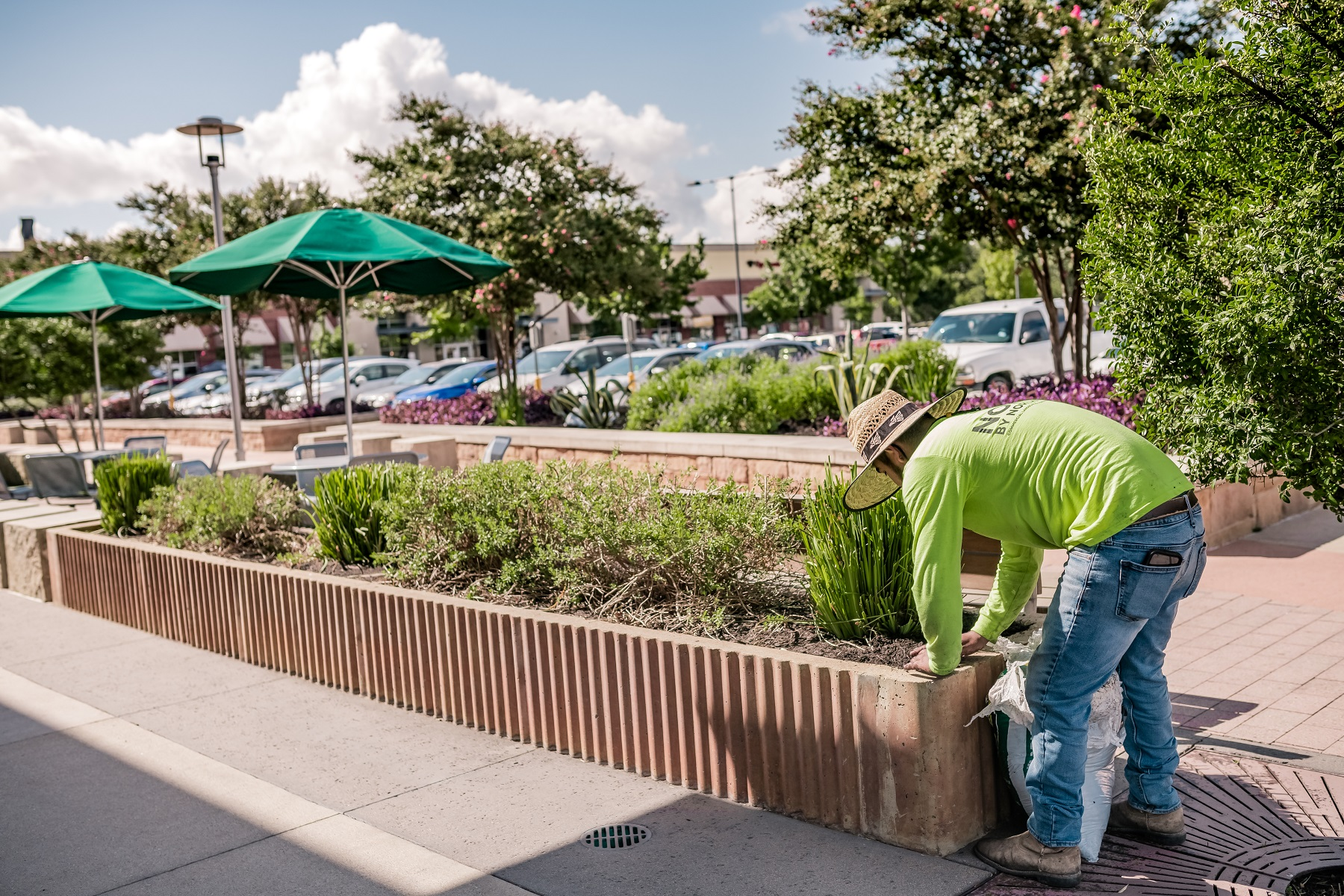 Commercial property mulching