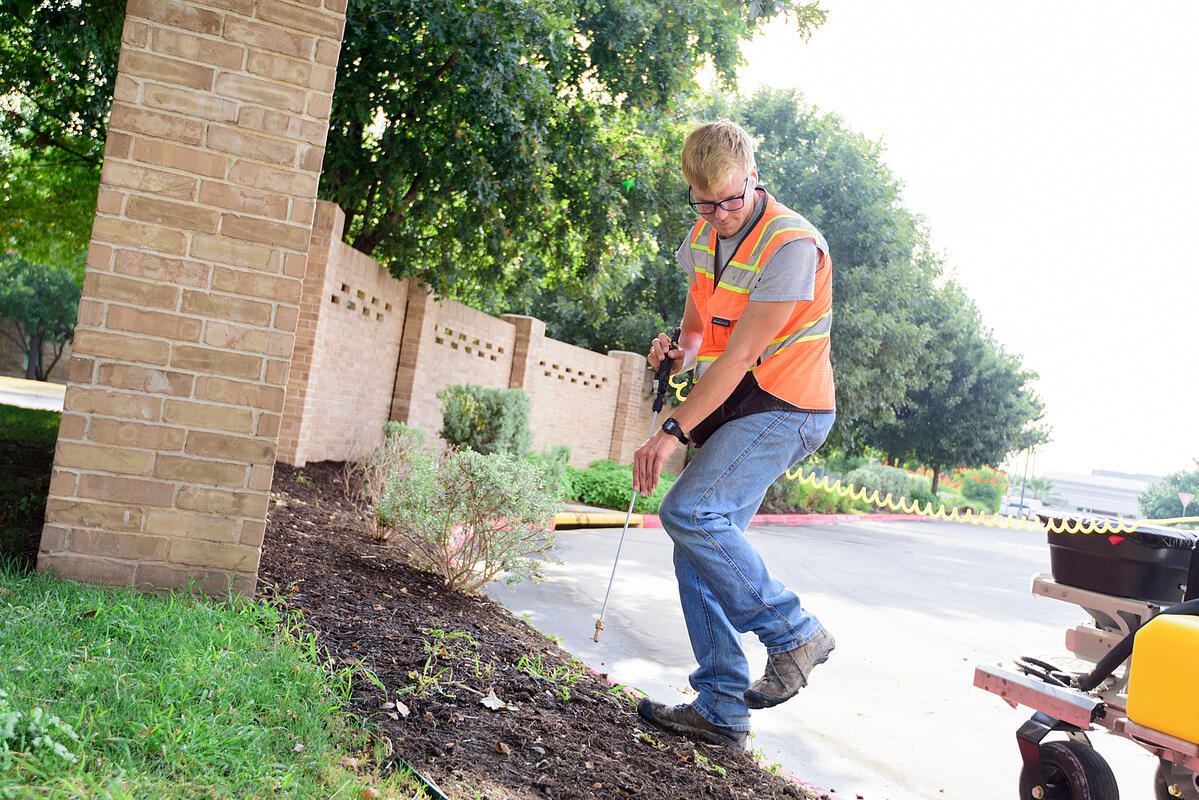 commercial landscape weed treatment