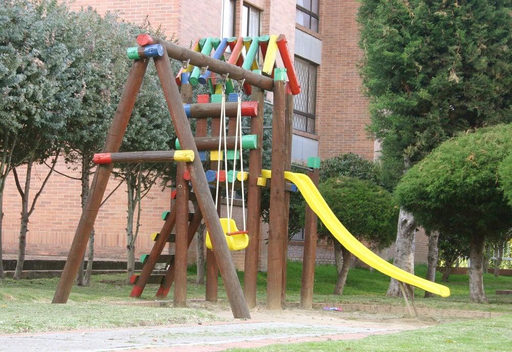 Children playground at apartment complex
