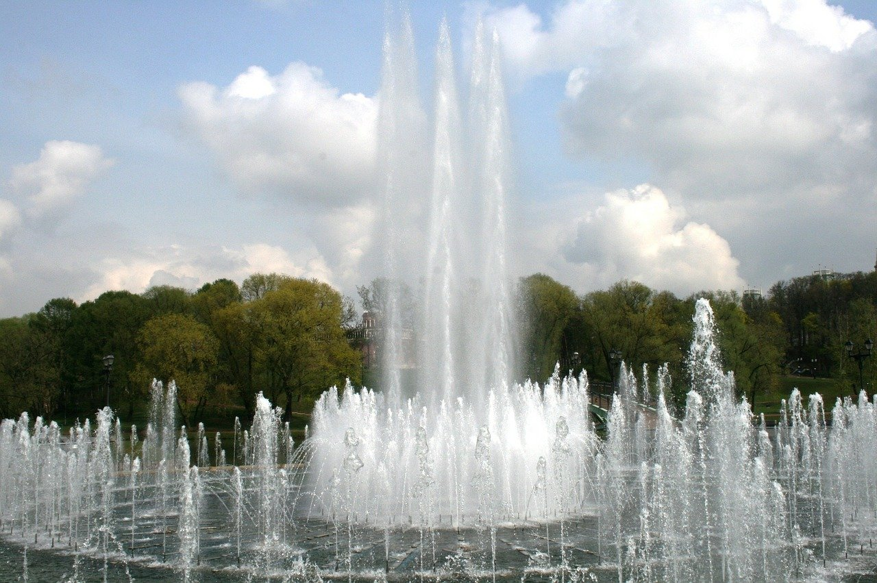 Water feature on commercial property