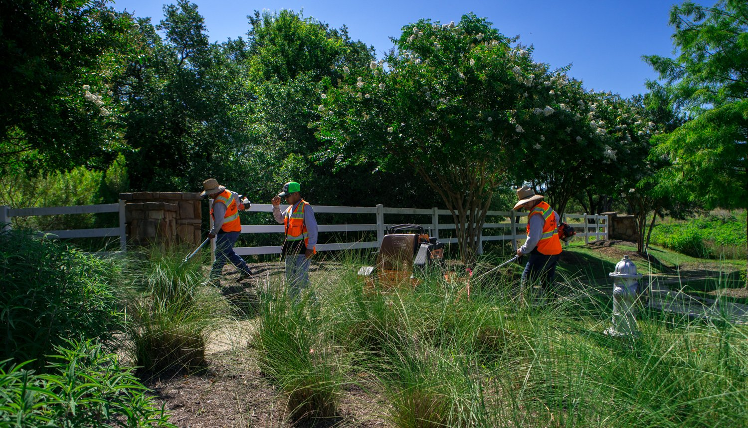 commercial-landscaping-CaballoRanch-crew-maintenance-2