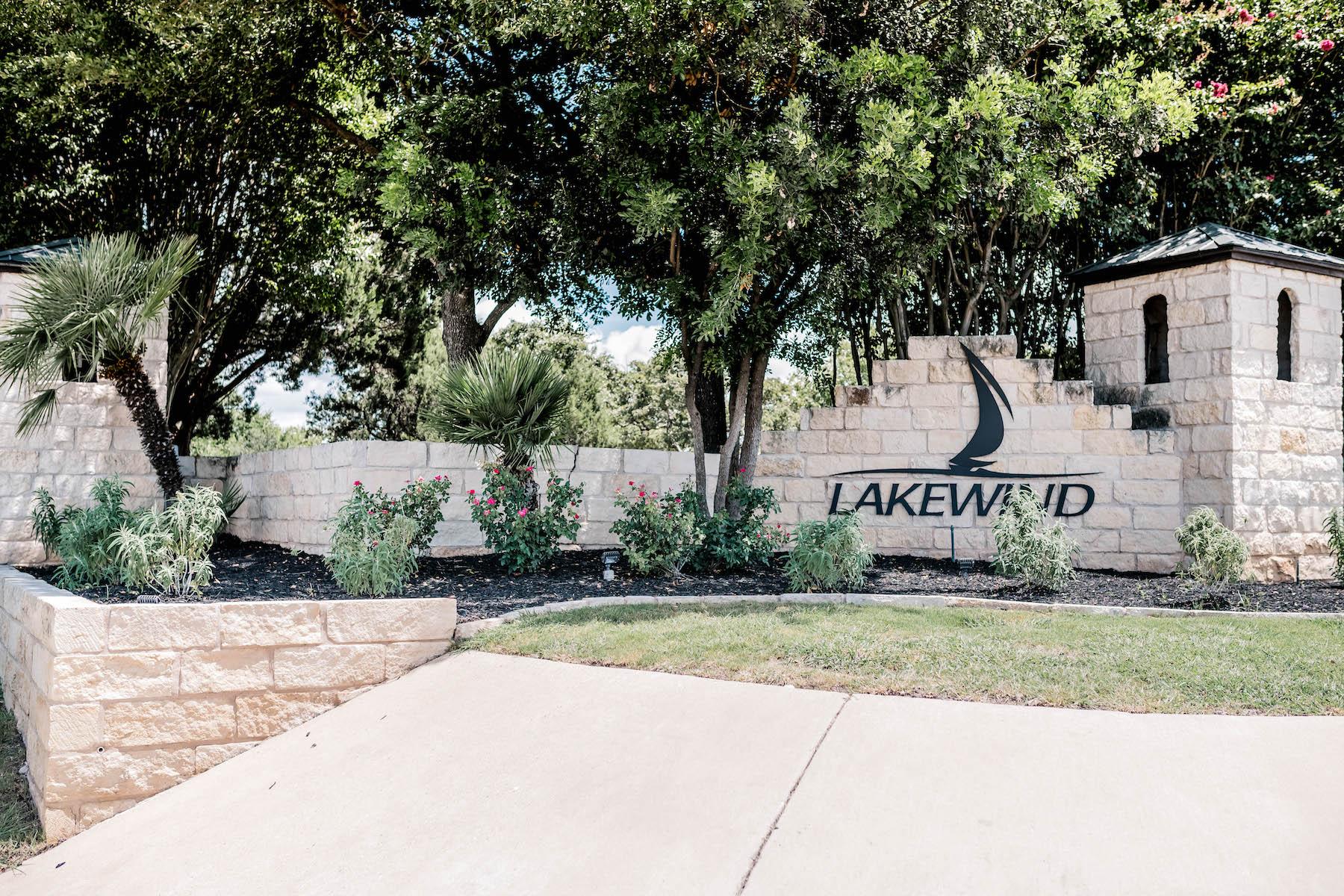 Lakewind entrance landscape installation